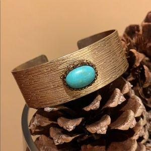 Francesca's Gold Plated Cuff Bracelet